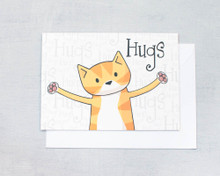 Hugs - Greetings Card