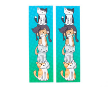 Cat Tower Bookmarks x 2