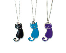 Enamel Cat Necklace