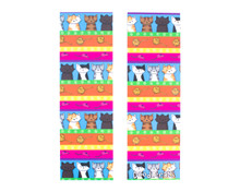Colourful Cats Bookmarks x2