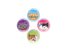 Cool Cats - Set of 4 Mini Magnets