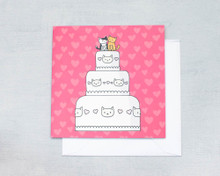 Wedding Cake - Greetings Card