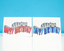 Happy Birthday Cat- greetings card