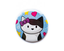 Cat with Bow - Pocket Mirror