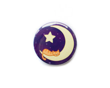 Moon Cat- button badge