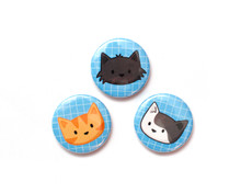 Feline Fun - Set of 3 Magnets