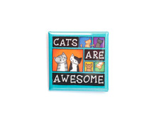 Cats Are Awesome - Pin Badge