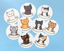 Cat Sticker with Name Banner