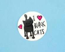 I Love Black Cats - Window Cling