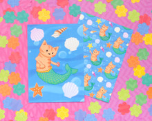 Mermaid Cat Postcards - Set of 6