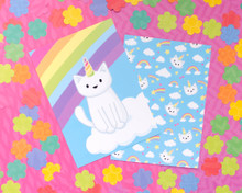 Unicorn Cat Postcards - Set of 6