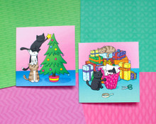 The Helpful Doodlecats - Christmas Cards - 6 Pack