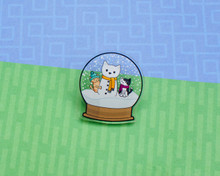 Snow Globe  Brooch Pin