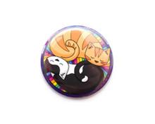Curled Up Circle Cats - Pocket Mirror