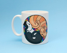 Colourful Circle Cats  - Mug