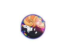 Colourful Circle Cats Brooch Pin