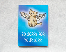So Sorry For Your Loss - Greetings Card