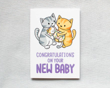 New Baby Congratulations - Greetings Card