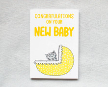 Congratulations New Baby - Greetings Card