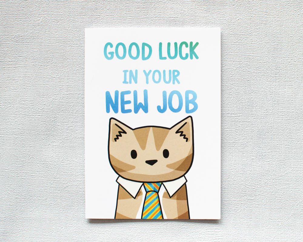Good Luck In Your New Job Greetings Card Doodlecats Shop