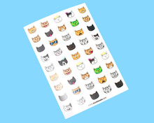 Emoticats Sticker Sheet - 45 Stickers!