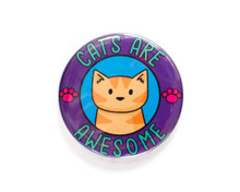 Cats Are Awesome - LARGE Fridge Magnet