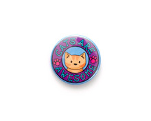 Cats Are Awesome -  button badge