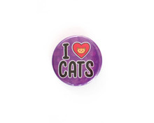 I <3 Cats -  button badge