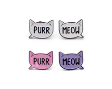 Purr and Meow Enamel Pin Set