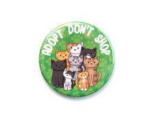 Adopt Don't Shop - LARGE Fridge Magnet