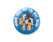 Rescue Cats Are The Best Breed - LARGE Fridge Magnet
