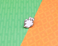 Halloween - Ghost Cat - Enamel Pin