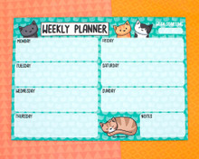 Cats Weekly Planner - Desk pad - Notepad