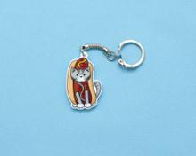 Hotdog Cat - Key Ring