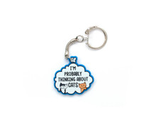 I'm Probably Thinking About Cats - Key Ring