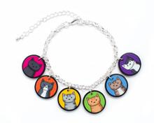 Rainbow Cat Charm Bracelet