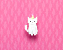 Unicorn Cat - Acrylic Pin