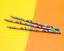 Cattastic Pencils - Pack of 3 - Cute Colourful Cats