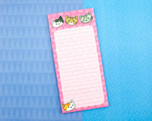 Pink Notepad with magnet -  Cute Cats