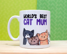 World's Best Cat Mum  - Mug