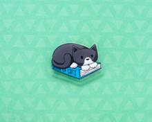 Book Cat - Acrylic Pin