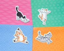 Yoga Cats Magnets - Set of 4