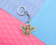 Angel Cat - Key Ring