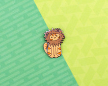 Lion Cat - Hard Enamel Pin