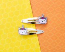 Unicorn Cat Hair Clips - Pair
