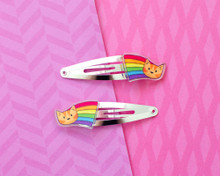 Rainbow Cat Hair Clips - Pair