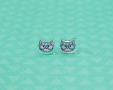 Nerd Cat Stud Earrings