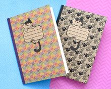 Pixie Recycled Cat Notebook  - A5 lined