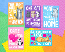 Cat Quotes Postcard Collection - Set of 5