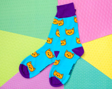 Ginger Cats on Blue Socks